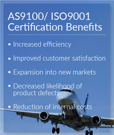 AS9100 and ISO9001 Certification Benefits