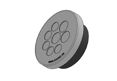 Icotek KEL-DPZ 50|8 gy: Round Cable Entry Plate - 43750