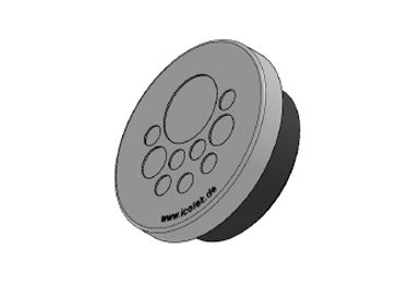 Icotek KEL-DPZ 50|10 gy: Round Cable Entry Plate - 43751