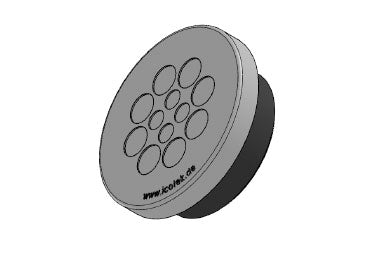 Icotek KEL-DPZ 50|12 gy: Round Cable Entry Plate - 43752