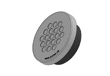 Icotek KEL-DPZ 50|19 gy: Round Cable Entry Plate (Overstock) - 43758