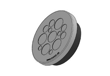 Icotek KEL-DPZ 63|13 gy: Round Cable Entry Plate - 43761