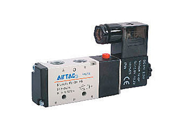 Airtac 4V210-08: Solenoid Valve, WITHOUT COIL - 4V21008T-XO (Overstock)
