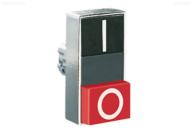 Lovato Electric: Double-Touch Actuator, Momentary, White Indicator, 1 Extended / 1 Flush Pushbutton - 8LM2TBL7222