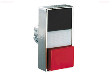 Lovato Electric: Double-Touch Actuator, Momentary, White Indicator, 1 Extended / 1 Flush Pushbutton - 8LM2TBL7212