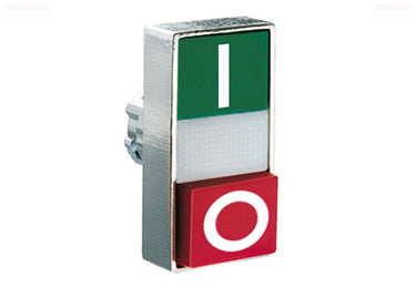 Lovato Electric: Double-Touch Actuator, Momentary, White Indicator, 1 Extended / 1 Flush Pushbutton - 8LM2TBL7223