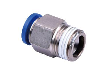 Airtac NPC: Push to Connect Fitting, Male Connector - NPC1/4-1/4 (MOQ 10 pcs.)