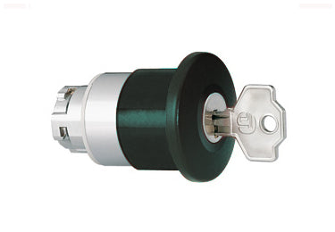 Lovato Electric: Mushroom Head Pushbutton Actuators, Latch, Turn Key to Release - 8LM2TB6542G501