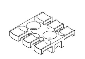Icotek ZL 39: Strain Relief Plate for Screw Assembly - 32222