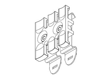 Icotek SF-ZL 39: Strain Relief Plate for 35mm DIN Rail - 32351