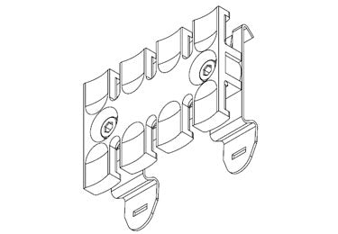 Icotek SF-ZL 60: Strain Relief Plate for 35mm DIN Rail - 32352