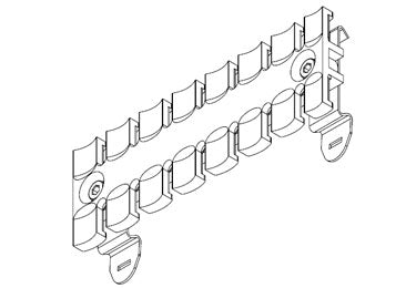 Icotek SF-ZL 121: Strain Relief Plate for 35mm DIN Rail - 32356