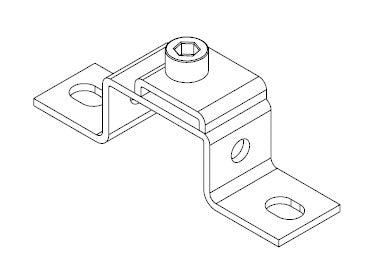 Icotek MF-B20 + Clip: Mounting Feet for DIN Rails and Bus Bars - 36002