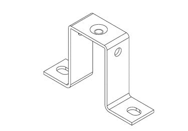 Icotek MF-B50: Mounting Feet for DIN Rails and Bus Bars - 36016