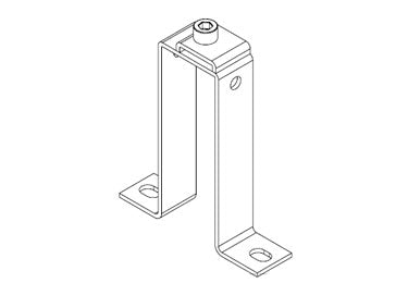 Icotek MF-B90 + Clip: Mounting Feet for DIN Rails and Bus Bars - 36026