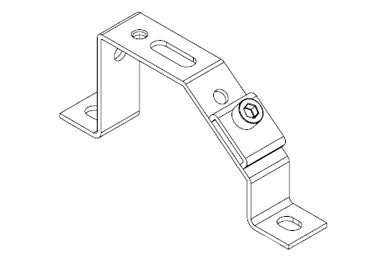 Icotek MF-D49 + Clip: Mounting Feet for DIN Rails and Bus Bars - 36050