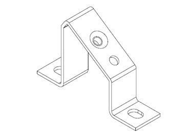 Icotek MF-A49: Mounting Feet for DIN Rails and Bus Bars - 36056