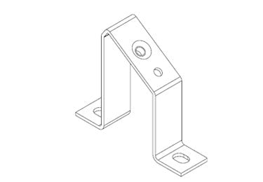 Icotek MF-A68: Mounting Feet for DIN Rails and Bus Bars - 36064
