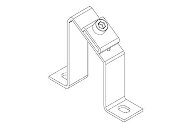 Icotek MF-A68 + Clip: Mounting Feet for DIN Rails and Bus Bars - 36066
