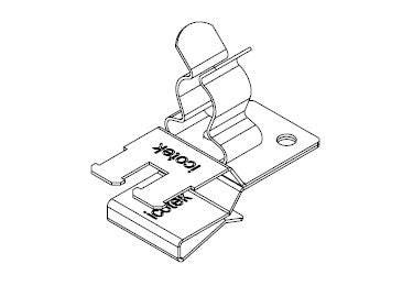 Icotek PFSZ2|SKL 40: EMC Double Shield Clamp for Bus Bar - 36789.40