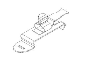 Icotek SFZ|SKL 1.5-3: EMC Shield Clamp for 35mm DIN Rail - 36850