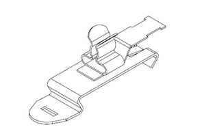 Icotek SFZ|SKL 3-6: EMC Shield Clamp for 35mm DIN Rail - 36855