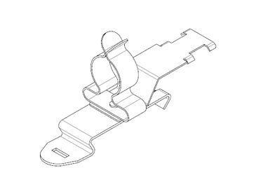 Icotek SFZ|SKL 126: EMC Shield Clamp for 35mm DIN Rail - 36870