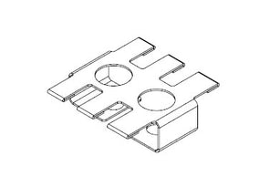 Icotek ZL 39|SB-EMC-2: Shield Plate for Strain Relief Plates - 37150