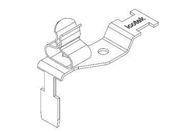 Icotek STFZ2-SP|10: EMC Double Terminal Clamp for Siemens SIMATIC ET 200SP - 37507.10