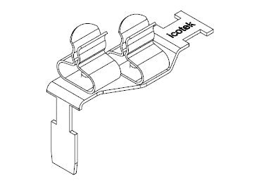 Icotek STFZ2-SP|13: EMC Double Terminal Clamp for Siemens SIMATIC ET 200SP - 37507.13