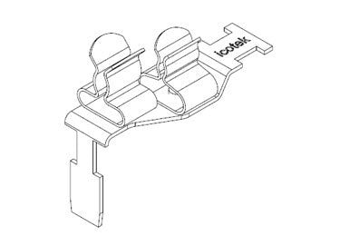 Icotek STFZ2-SP|23: EMC Double Terminal Clamp for Siemens SIMATIC ET 200SP - 37507.23