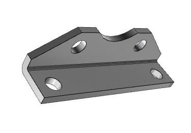 Airtac NSU: Mounting Bracket for Pneumatic Cylinder, NFPA  Standard - F-NSU5MS1