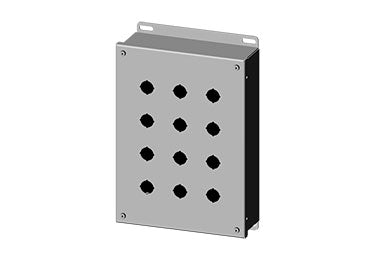 Saginaw Enclosures: Pushbutton Enclosure for 22.5mm Pushbuttons - SCE-12PBGX