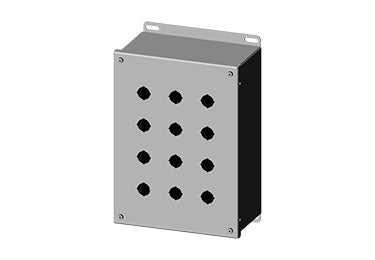 Saginaw Enclosures: Pushbutton Enclosure Extra Deep 22.5mm - SCE-12PBXI