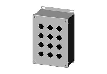 Saginaw Enclosures: Pushbutton Enclosure Extra Deep 30.5mm - SCE-12PBX