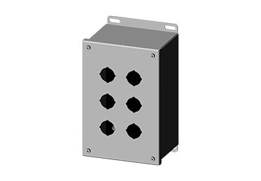 Saginaw Enclosures: Pushbutton Enclosure Extra Deep 30.5mm - SCE-6PBX