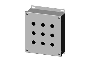 Saginaw Enclosures: Pushbutton Enclosure for 22.5mm Pushbuttons - SCE-9PBGX