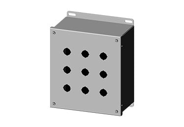 Saginaw Enclosures: Pushbutton Enclosure Extra Deep 22.5mm - SCE-9PBXI