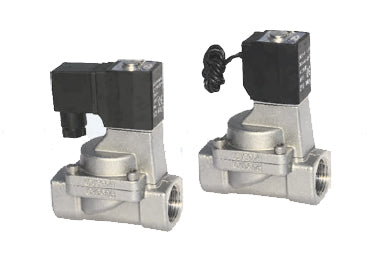 Airtac 2S200: Solenoid Fluid Control Valve, Stainless Steel - 2S20020E