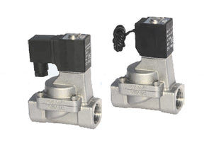 Airtac 2S250: Solenoid Fluid Control Valve, Stainless Steel - 2S25025B