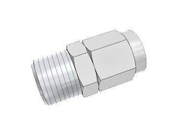 Airtac BKC: Push Lock Fitting, Locknut Connector - BKC0806-01