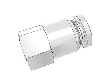 Airtac PCF: Push Lock Fitting, Female Connector - PCF601