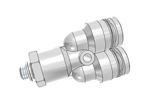Airtac PYB: Push Lock Fitting, Branch Y - PYB1001