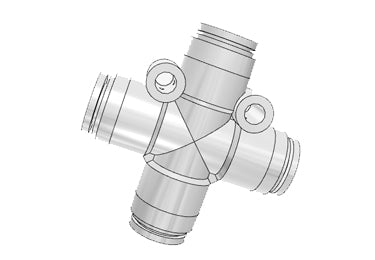 Airtac PZG: Push Lock Fitting, Different Diameter Cross - PZG6-4