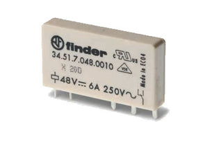 Finder Series 34: Slim PCB Relay - 34.51.7.024.0010