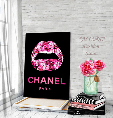 Fashion wall art, Fashion print, Painting on canvas - Allure Fashion Store
