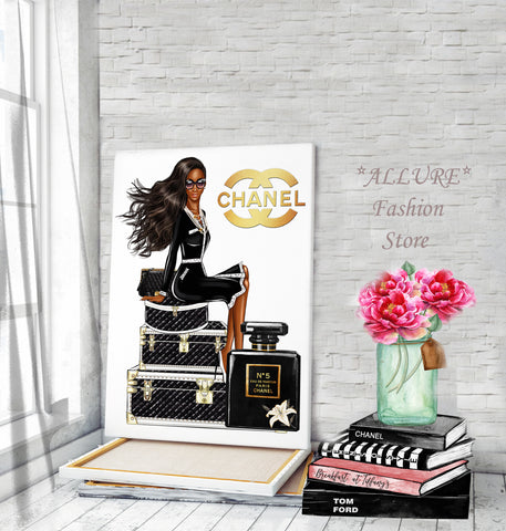 Art wall art, Fashion print, Pagpinta sa canvas - Allure Fashion Store