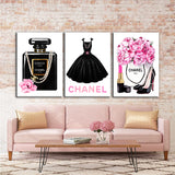 Painting on canvas, Fashion print - Allure Fashion Store