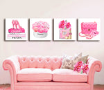 Fashion wall art، Fashion 3 set print، لوحة على قماش، Fashion print - Allure Fashion Store