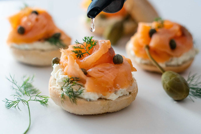 Smoked Salmon Bagel Bites